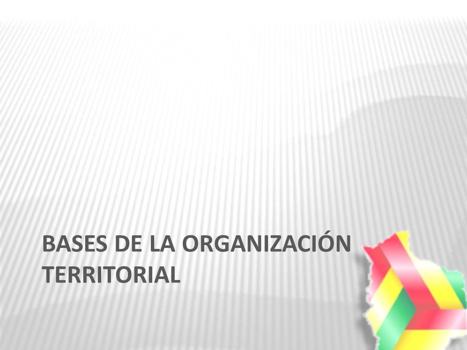 BASES DE LA ORGANIZACIÓN TERRITORIAL