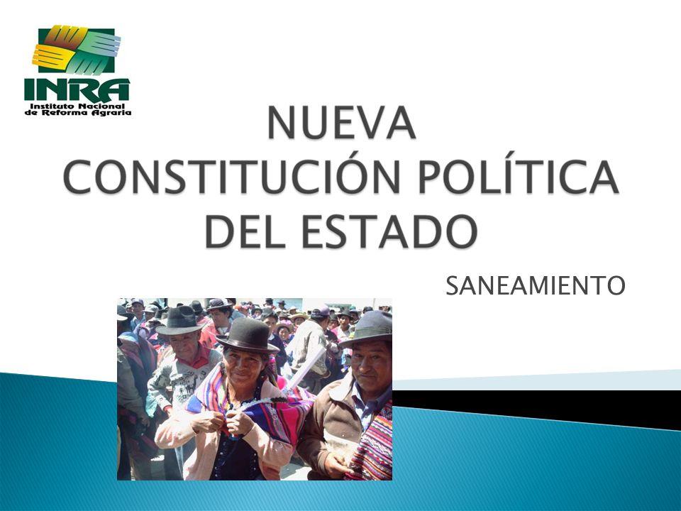2 INTRODUCCIÓN DerechosTierra y RRNN Sujetos GARANTIAS CONSTITUCIONALES (Art.
