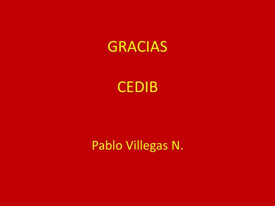 GRACIAS CEDIB Pablo Villegas N.