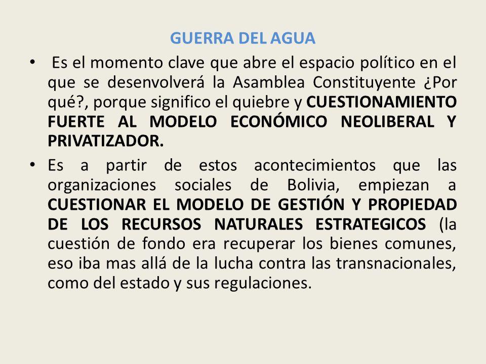 MOVILIZACIONES DE TIERRAS BAJAS (2002) Instala en el debate la necesidad de convocar a una Asamblea Constituyente.