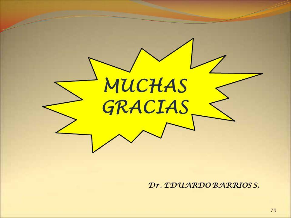 MUCHAS GRACIAS 75 Dr. EDUARDO BARRIOS S.