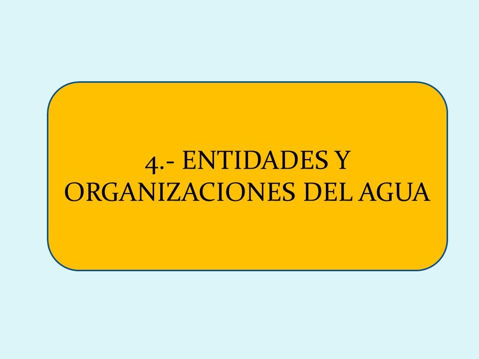 4.- ENTIDADES Y ORGANIZACIONES DEL AGUA