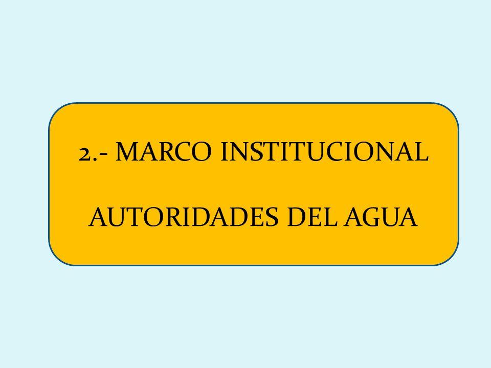 2.- MARCO INSTITUCIONAL AUTORIDADES DEL AGUA