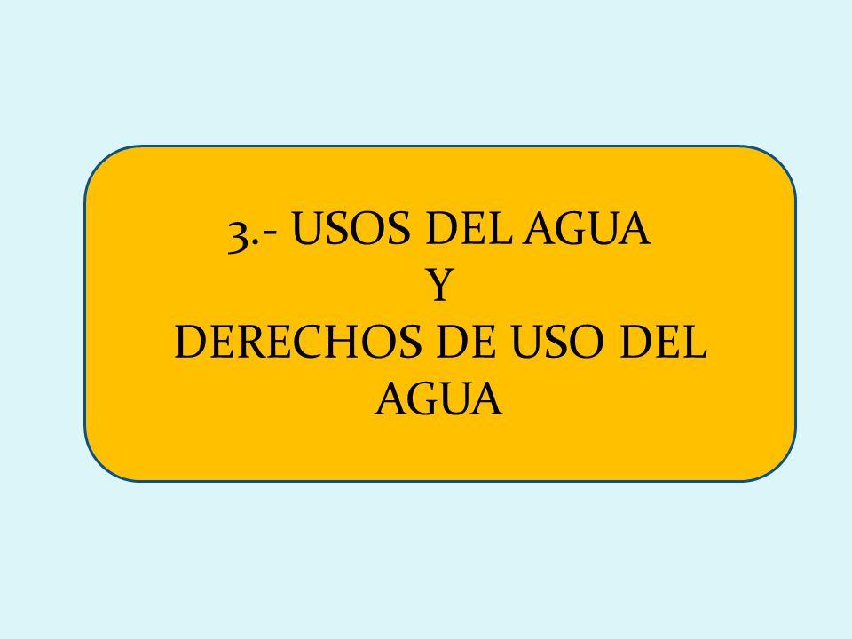 3.- USOS DEL AGUA Y DERECHOS DE USO DEL AGUA