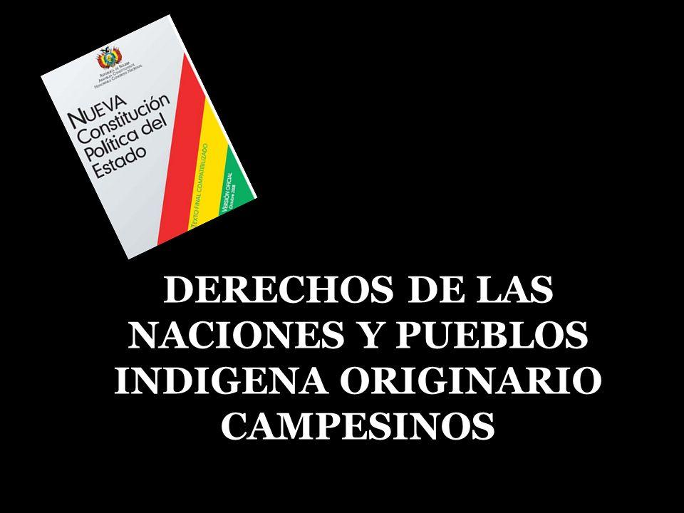 DERECHOS DE LAS NACIONES Y PUEBLOS INDIGENA ORIGINARIO CAMPESINOS
