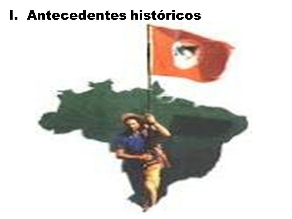 El Brasil es un país en que el latifundio es preponderante en todo su formación histórica; Por lo tanto siempre hubieron luchas de resistencia y acceso a la tierra: Luchas indígenas: periodo de conquista.