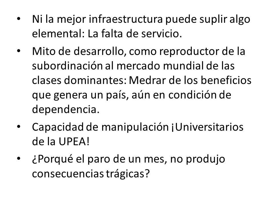Ni la mejor infraestructura puede suplir algo elemental: La falta de servicio.