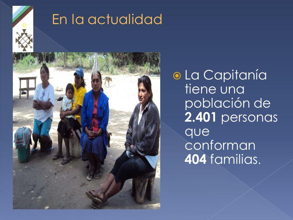 La Capitanía tiene una población de 2.401 personas que conforman 404 familias.