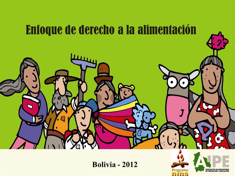 Enfoque de derecho a la alimentación Bolivia - 2012
