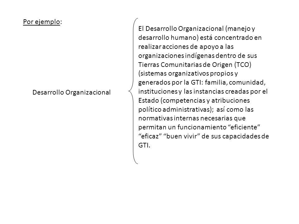Desarrollo Organizacional El Desarrollo Organizacional (manejo y desarrollo humano) está concentrado en realizar acciones de apoyo a las organizacione