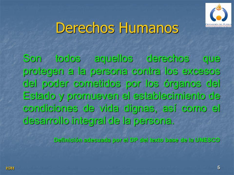 5 Derechos Humanos Son todos aquellos derechos que protegen a la persona contra los excesos del poder cometidos por los órganos del Estado y promueven