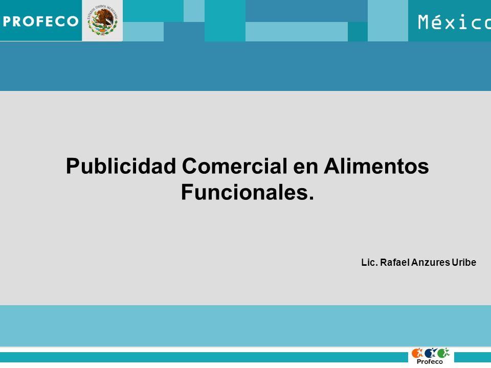 México Publicidad Comercial en Alimentos Funcionales. Lic. Rafael Anzures Uribe