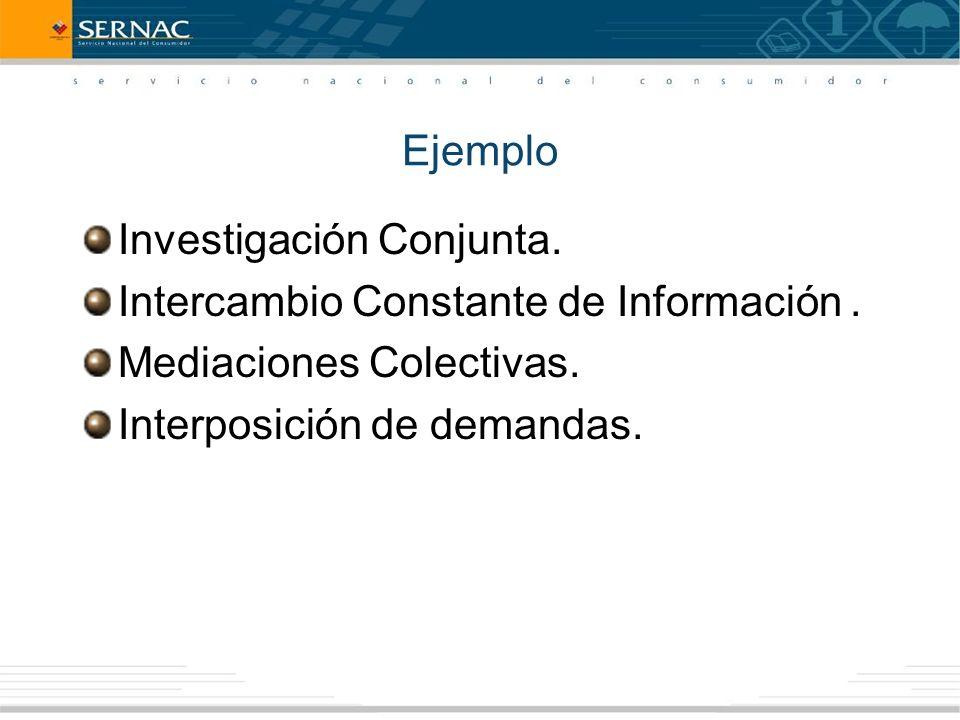 Investigación Conjunta. Intercambio Constante de Información.