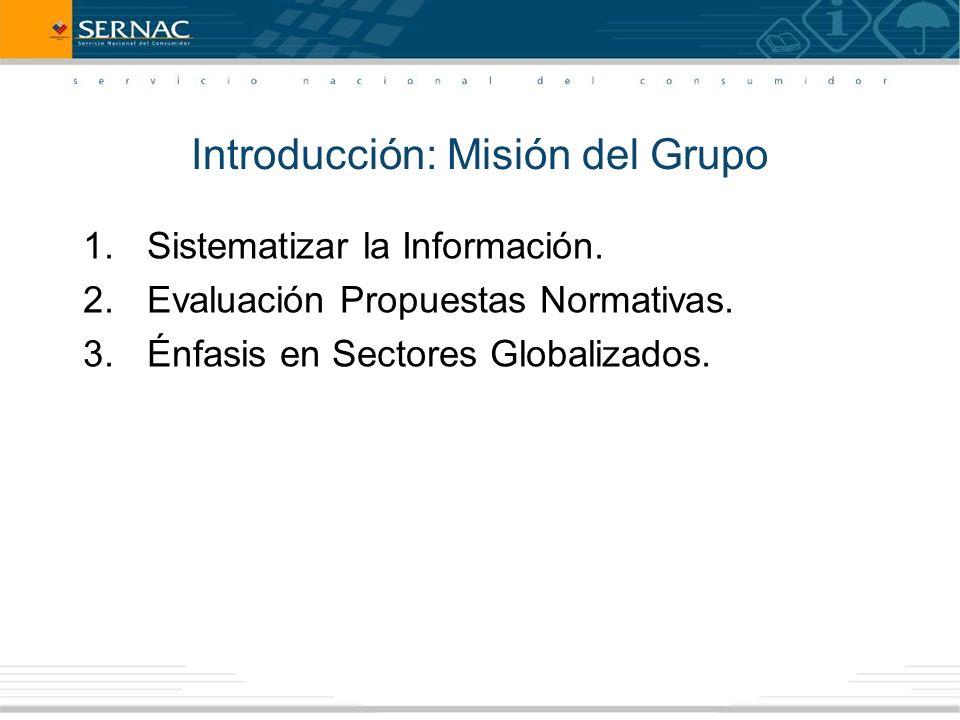 Introducción: Misión del Grupo 1.Sistematizar la Información.