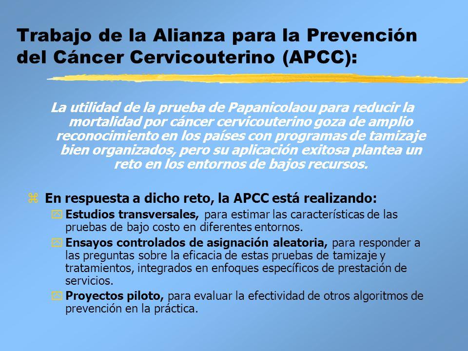 Trabajo de la Alianza para la Prevención del Cáncer Cervicouterino (APCC): La utilidad de la prueba de Papanicolaou para reducir la mortalidad por cán