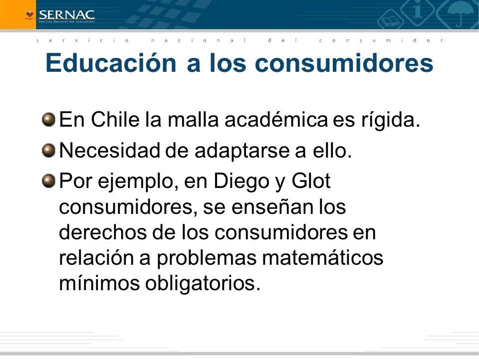 Educación a los consumidores En Chile la malla académica es rígida.