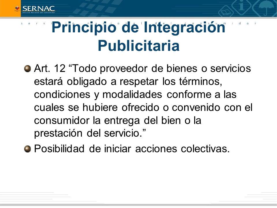Principio de Integración Publicitaria Art.