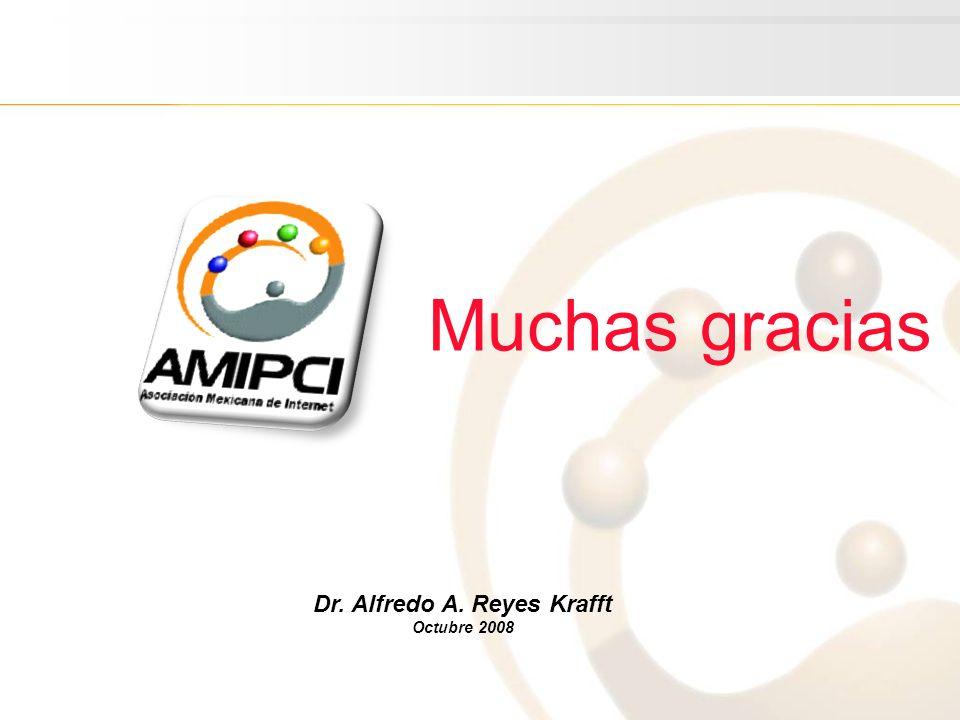 Dr. Alfredo A. Reyes Krafft Octubre 2008 Muchas gracias