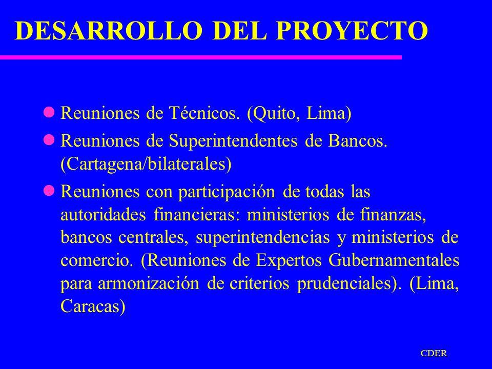 CDER PROYECTO ARMONIZACION ELEMENTOS SELECCIONADOS (De Regulación Prudencial). Suficiencia patrimonial Determinación morosidad de crédito. Evaluación