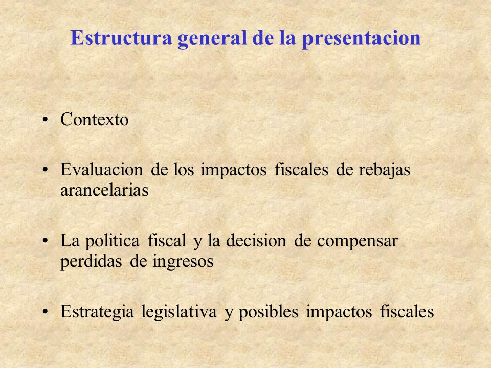 Experiencia de Chile: rebaja gradual de aranceles promulgada en 1999