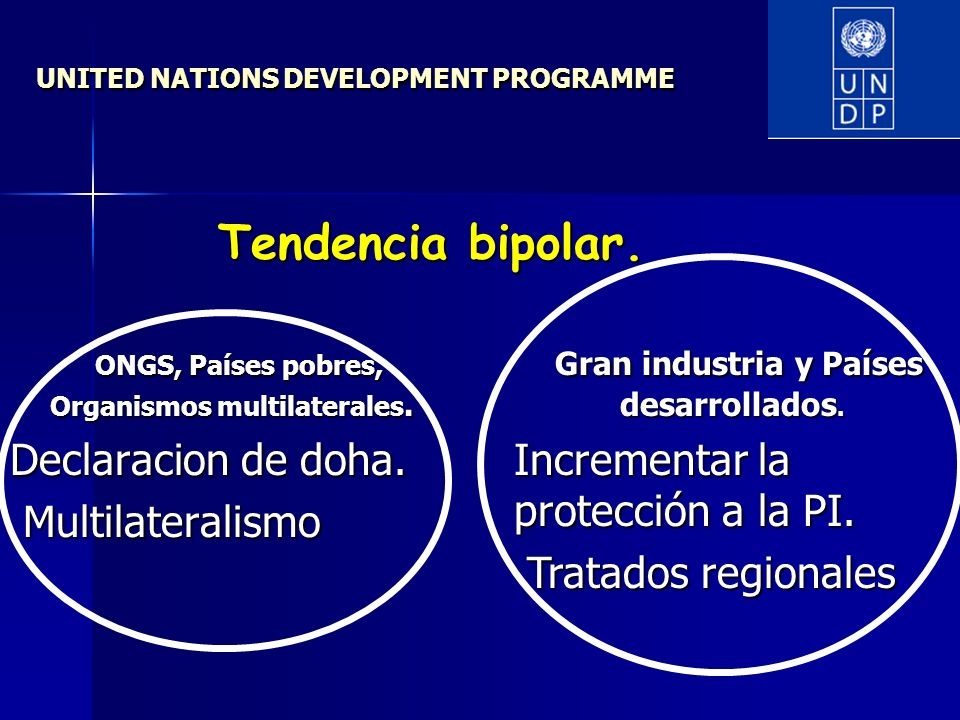 UNITED NATIONS DEVELOPMENT PROGRAMME ONGS, Países pobres, Organismos multilaterales.