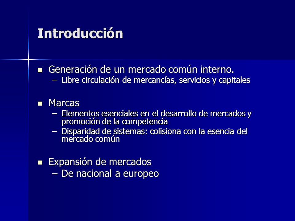 Introducción Generación de un mercado común interno. Generación de un mercado común interno. –Libre circulación de mercancías, servicios y capitales M