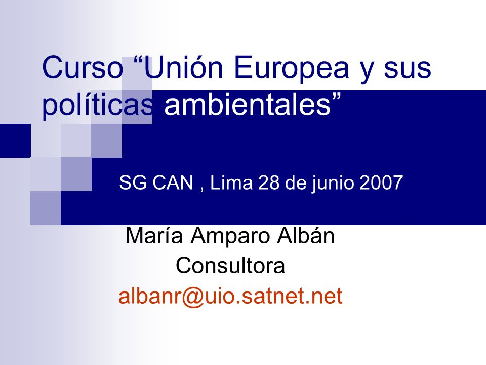 II. CONTRIBUCIÓN DE LA UE AL DEBATE