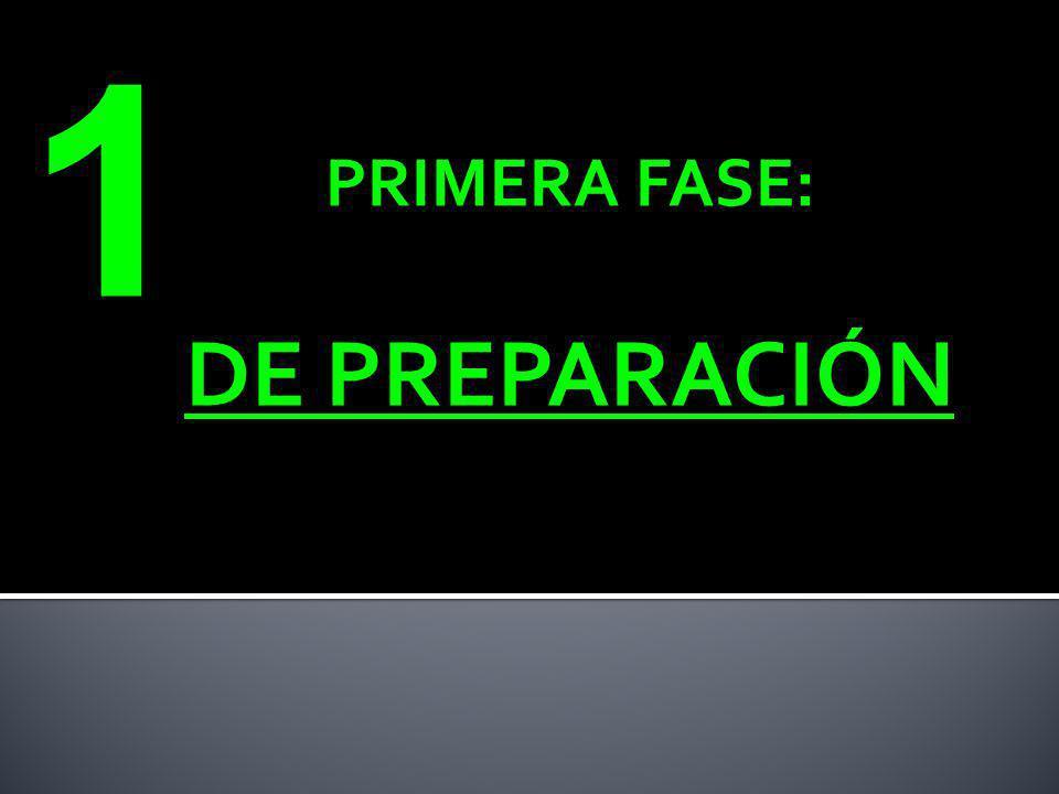 PRIMERA FASE: DE PREPARACIÓN 1