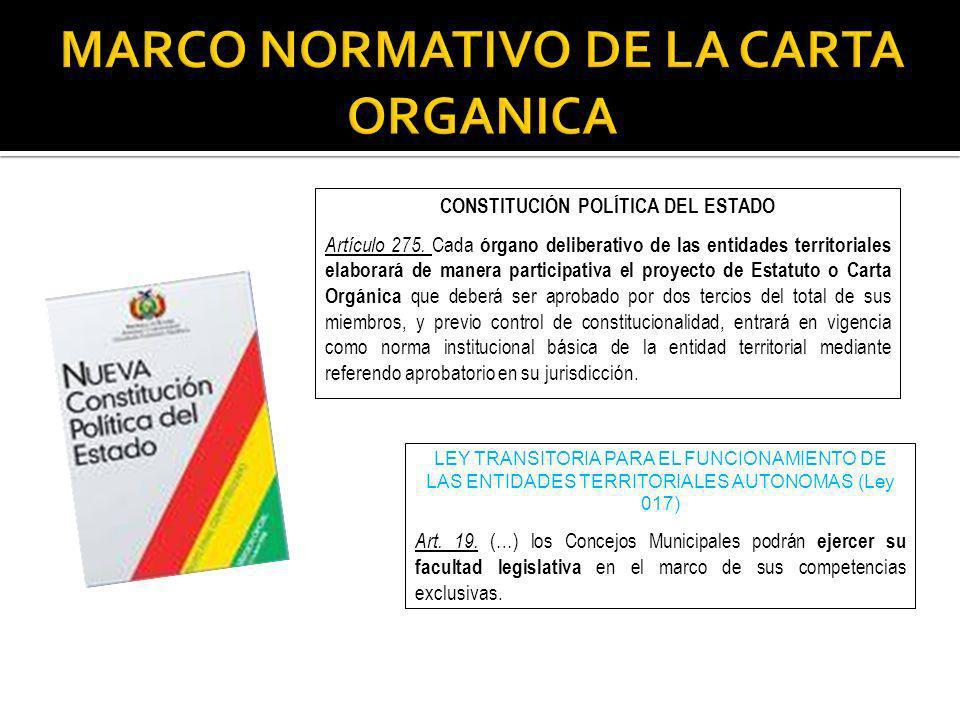 CONSTITUCIÓN POLÍTICA DEL ESTADO Artículo 275.