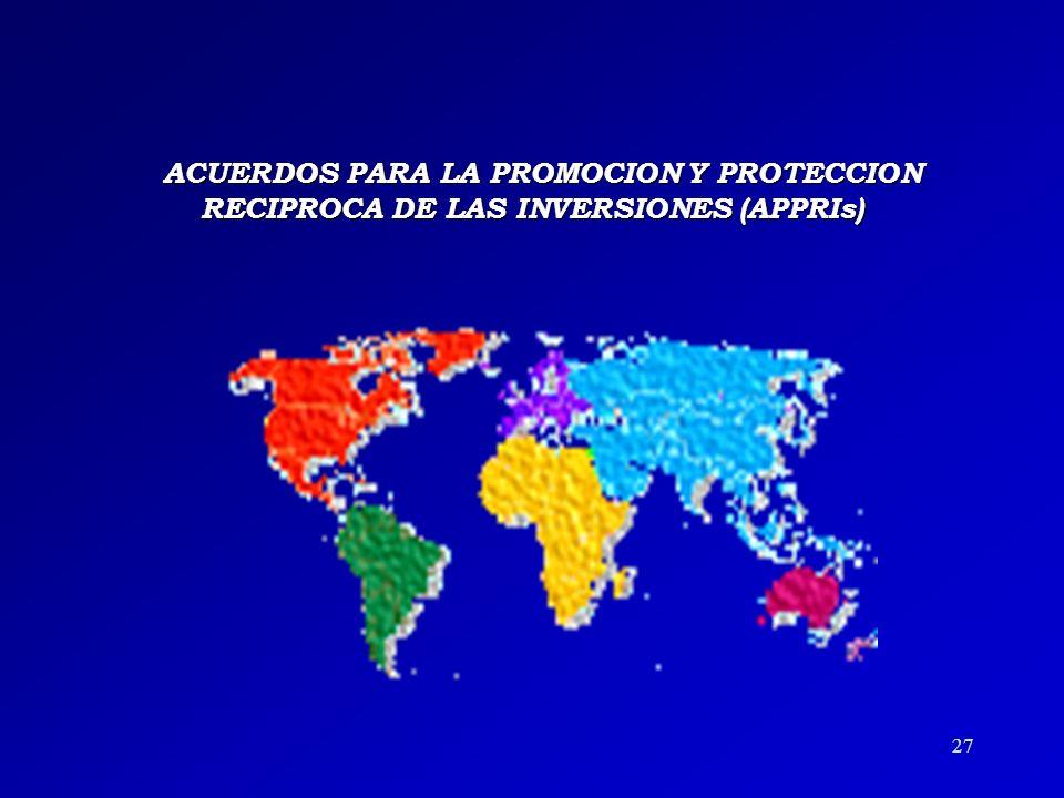 26 Las partes se comprometen al fomento de la inversión mediante: u Mecanismos de información y divulgación de las legislaciones y de las oportunidade