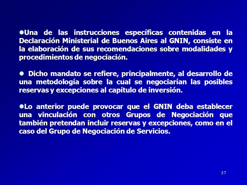 36 l En cumplimiento de la instrucción señalada, el GNIN ha recibido 6 nuevos temas, mismos que han sido incluidos en el borrador de texto del capítul