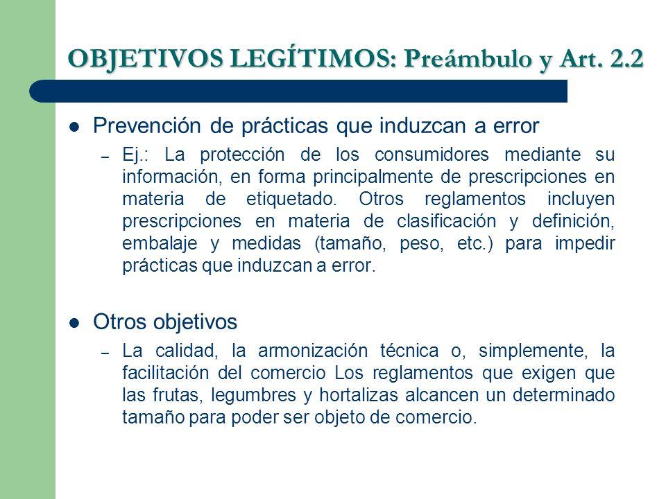 Prevención de prácticas que induzcan a error – Ej.: La protección de los consumidores mediante su información, en forma principalmente de prescripcion