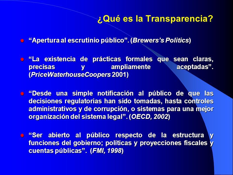 ¿Qué es la Transparencia. Apertura al escrutinio público.