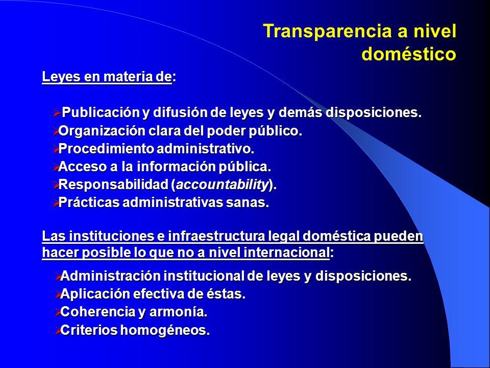 Transparencia y AIIs Algunos AIIs contienen disposiciones en materia de transparencia, principalmente relacionadas con el NIVEL UNO.