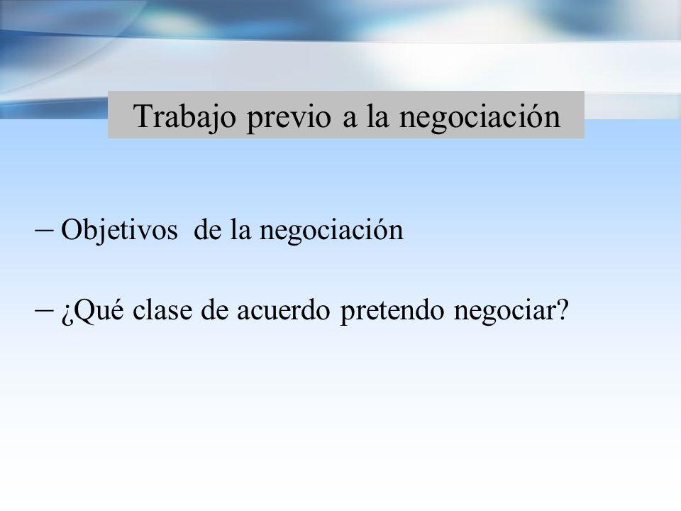 Trabajo previo a la negociación – Identificación de temas sensibles – Elaboración de un modelo de acuerdo – Revisión de los acuerdos existentes en la materia.