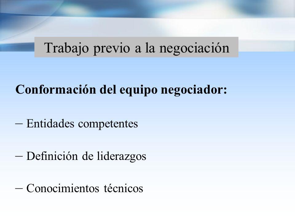 Proceso negociador