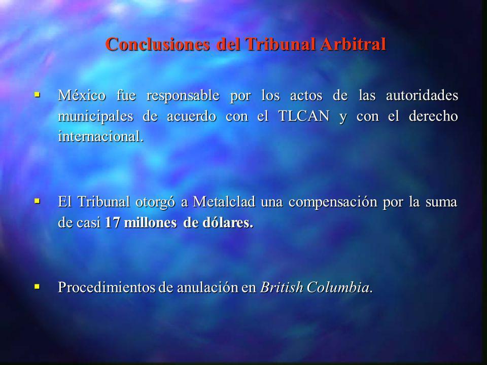 México fue responsable por los actos de las autoridades municipales de acuerdo con el TLCAN y con el derecho internacional. México fue responsable por