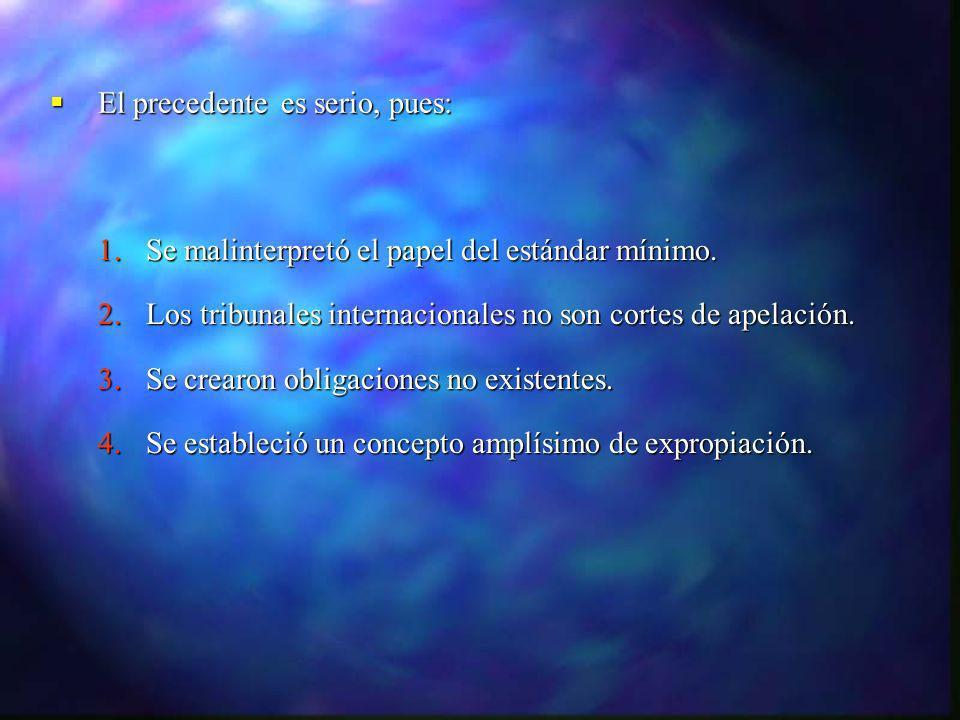 TECMED TECMED APPRI MÉXICO - ESPAÑA APPRI MÉXICO - ESPAÑA La empresa reclamó la afectación de la inversión realizada por la empresa mexicana CYTRAR, S.A.