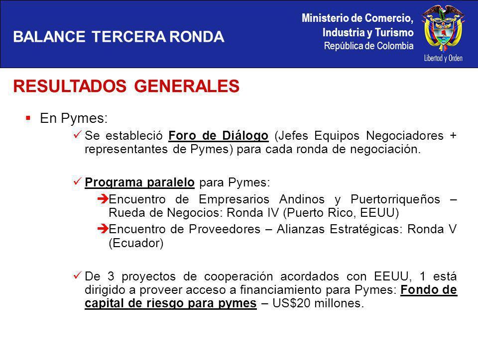 Ministerio de Comercio, Industria y Turismo República de Colombia OBJETIVOS Prenegociar los apoyos y triangulaciones entre los Andinos Completar los textos de la propuesta Andina.