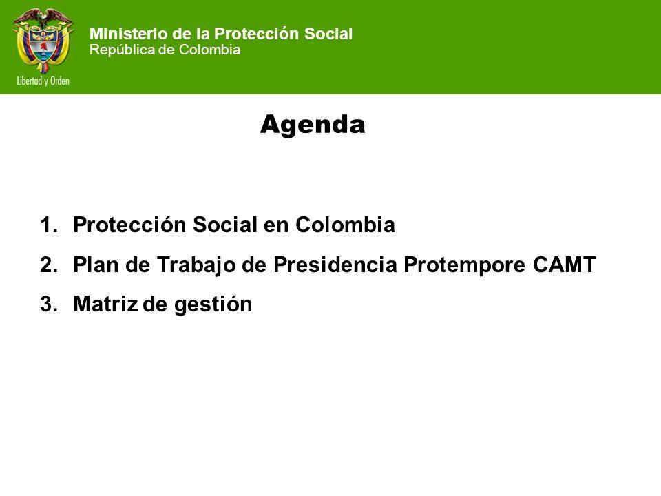Ministerio de la Protección Social República de Colombia Ministerio de la Protección Social República de Colombia Agenda 1.Protección Social en Colomb