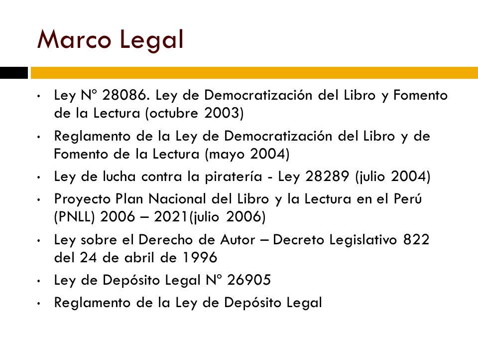 Marco Legal Ley Nº 28086.