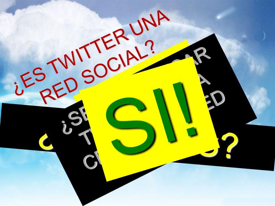¿ES TWITTER UNA RED SOCIAL. NO ¿Y QUÉ ES.