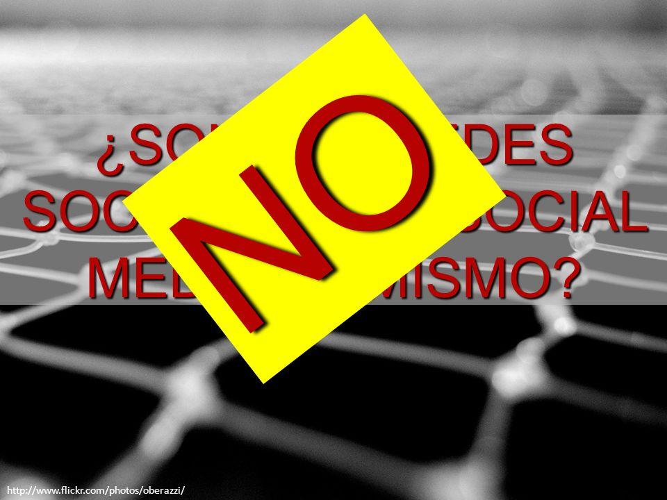 ¿SON LAS REDES SOCIALES Y EL SOCIAL MEDIA LO MISMO NO http://www.flickr.com/photos/oberazzi/