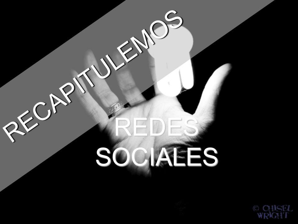 RECAPITULEMOS REDES SOCIALES