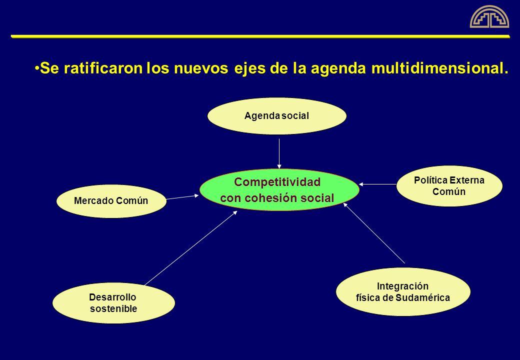Resultados visibles de la nueva agenda de la integración La adopción de un Arancel Externo Común (AEC) para el 62% del comercio intracomunitario.