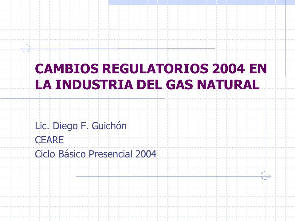 VISION GENERAL DE LOS CAMBIOS EN EL SECTOR GAS NATURAL Las medidas adoptadas por el Gobierno en el sector gas natural, a partir de los Dtos 180/04 y 181/04, han afectado a todos y cada uno de los participantes de la industria.