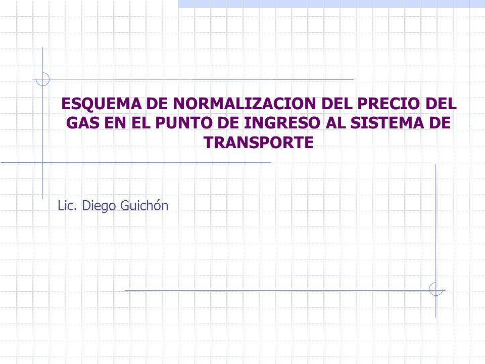 ESQUEMA DE NORMALIZACION DEL PRECIO DEL GAS EN EL PUNTO DE INGRESO AL SISTEMA DE TRANSPORTE Lic.