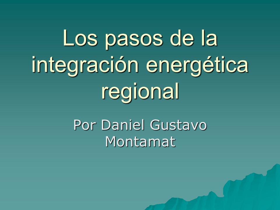 Los pasos de la integración energética regional Por Daniel Gustavo Montamat