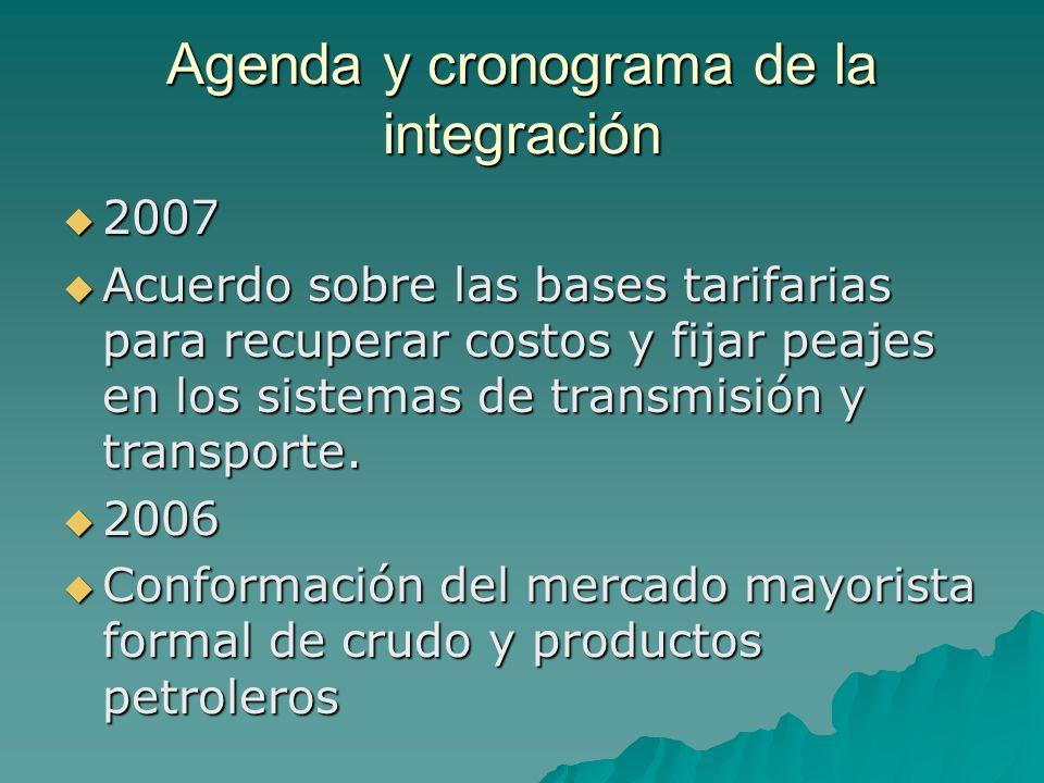 2007 2007 Acuerdo sobre las bases tarifarias para recuperar costos y fijar peajes en los sistemas de transmisión y transporte. Acuerdo sobre las bases