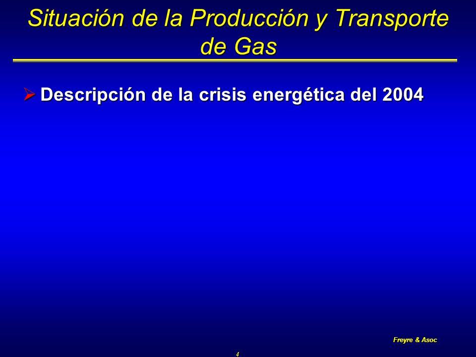 Freyre & Asoc 5 Sistema Argentino de Gas Natural Capacidad de transporte 120 MMm3/d Inyección en la crisis 100 MMm3/d